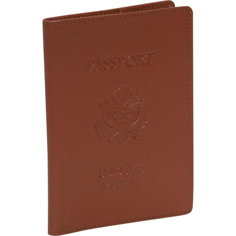 ロイスレザー メンズ 財布 アクセサリー Debossed RFID Blocking Passport Jacket Tan