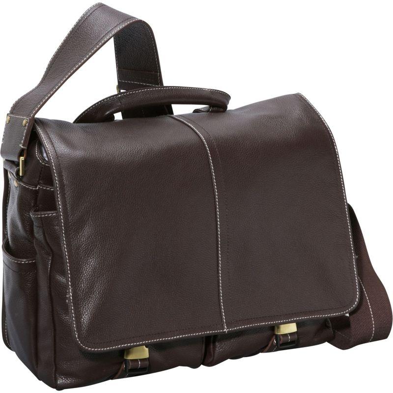 アメリ メンズ スーツケース バッグ Legacy Leather Woody Laptop Messenger Bag Dark Brown