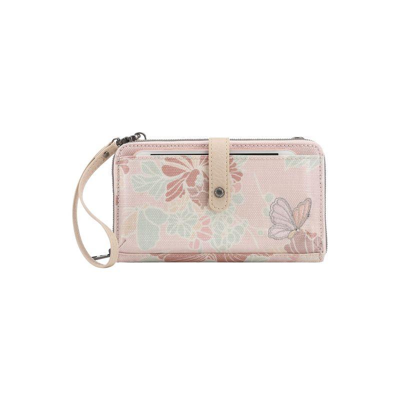 サックルーツ メンズ ボディバッグ・ウエストポーチ バッグ Artist Circle Large Smartphone Crossbody Petal Pink Flower Blossoms