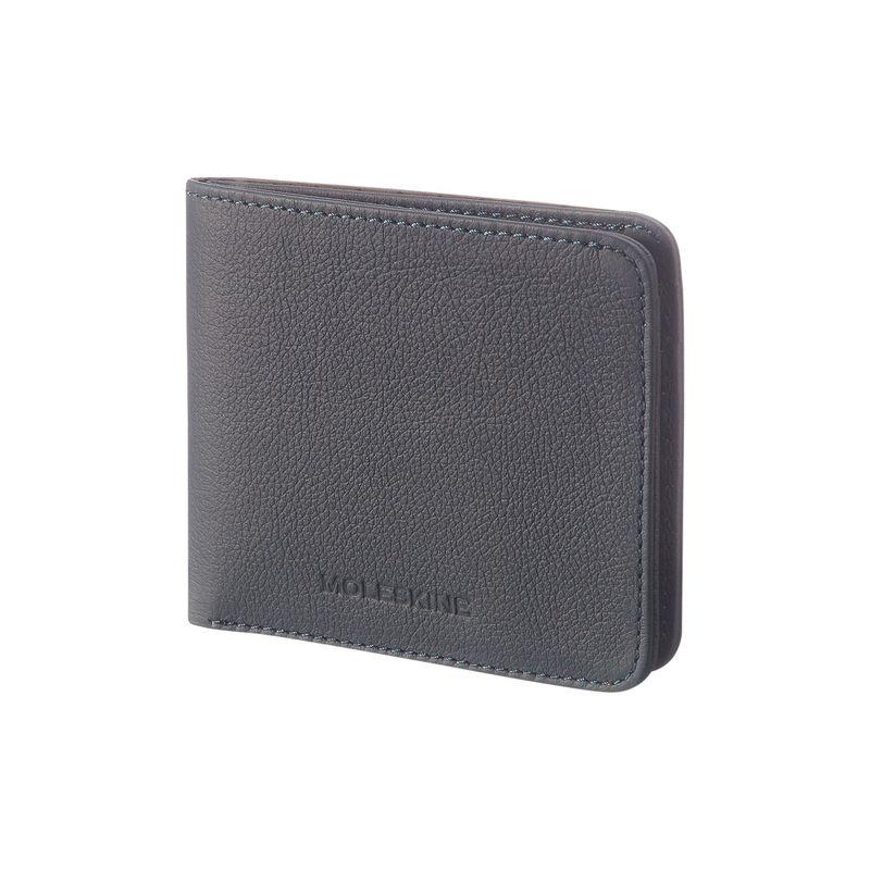 モレスキン メンズ 財布 アクセサリー Lineage Leather Horizontal Wallet Blue Avio