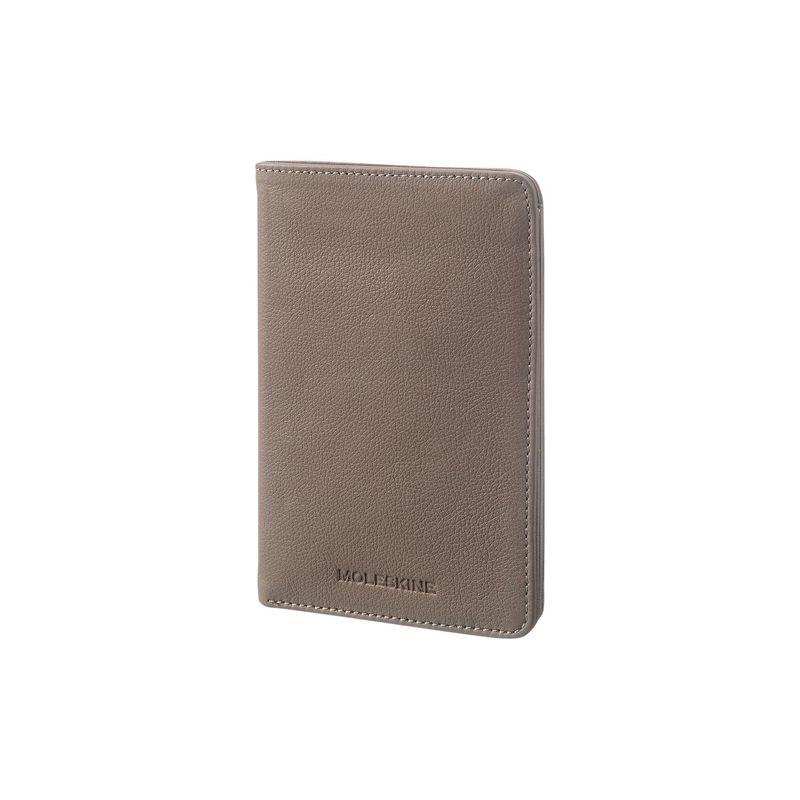 モレスキン メンズ 財布 アクセサリー Lineage Leather Passport Wallet Taupe