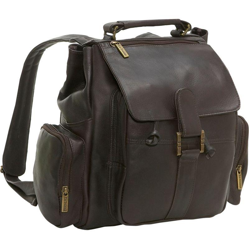 ルドネレザー メンズ バックパック・リュックサック バッグ Multi Pocket Back Pack Cafe