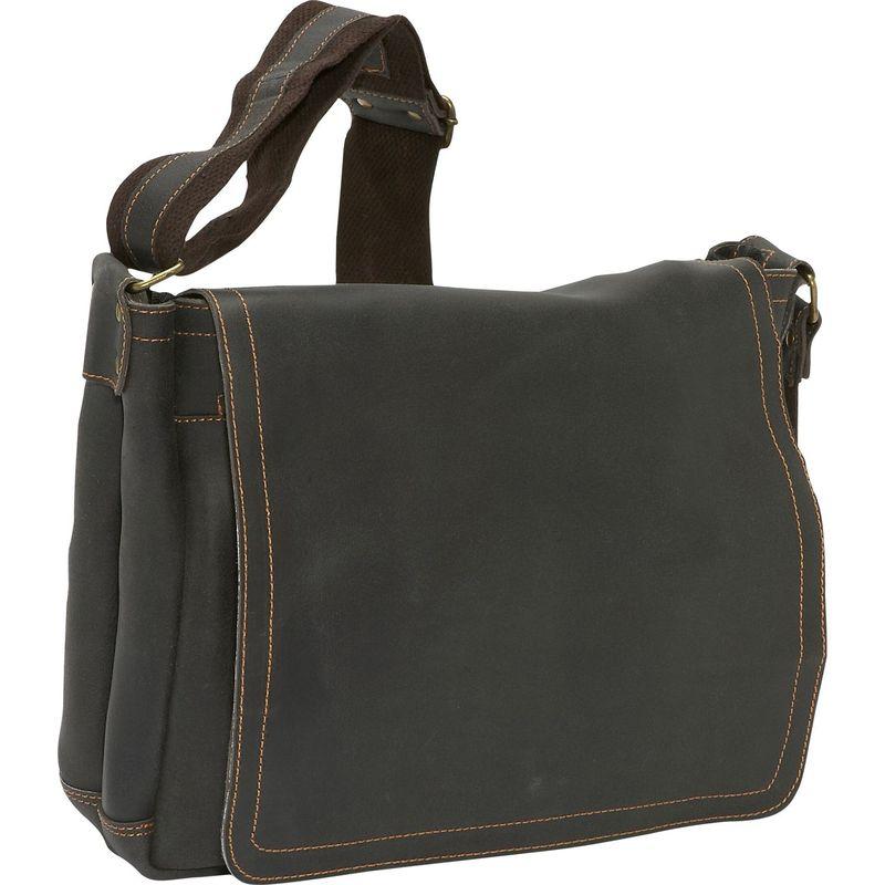 デビッドキング メンズ スーツケース バッグ North South Laptop Messenger Chocolate