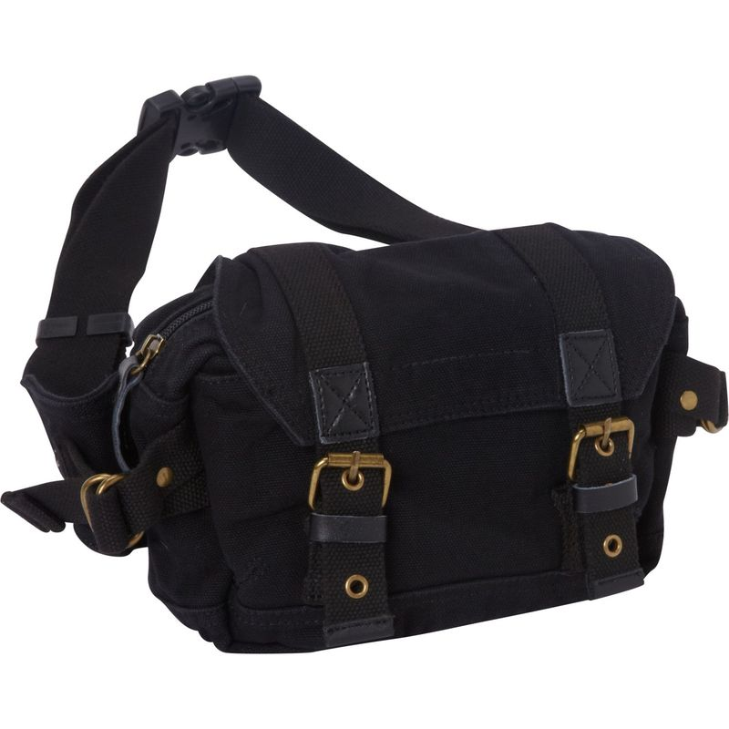 ヴァガボンドトラベラー メンズ ボディバッグ・ウエストポーチ バッグ Stylish Canvas Waist Pack Black