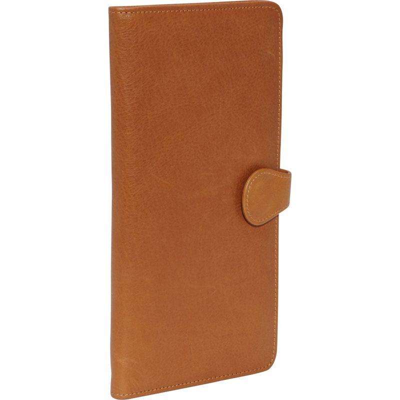 クレバ メンズ 財布 アクセサリー Leather Tab Travel Wallet Tuscan Tan