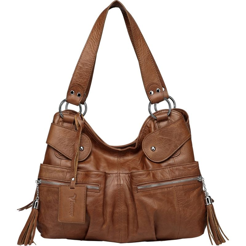 ビンセンゾレザー メンズ ハンドバッグ バッグ Athena Italian Leather Handbag Dark Brown