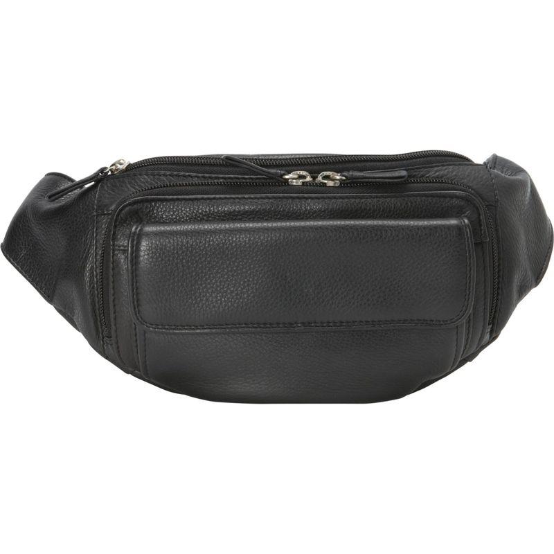 デレクアレクサンダー メンズ ボディバッグ・ウエストポーチ バッグ Three Zippered Compartment Waist Bag Black