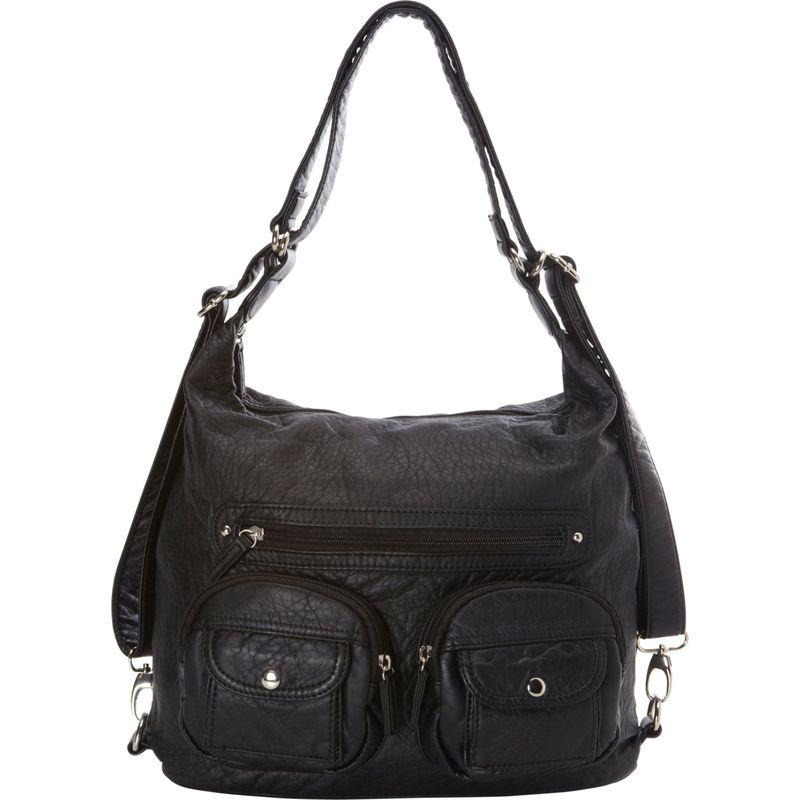 アンペレクリアーション メンズ ボディバッグ・ウエストポーチ バッグ Convertible Backpack Crossbody Purse Black