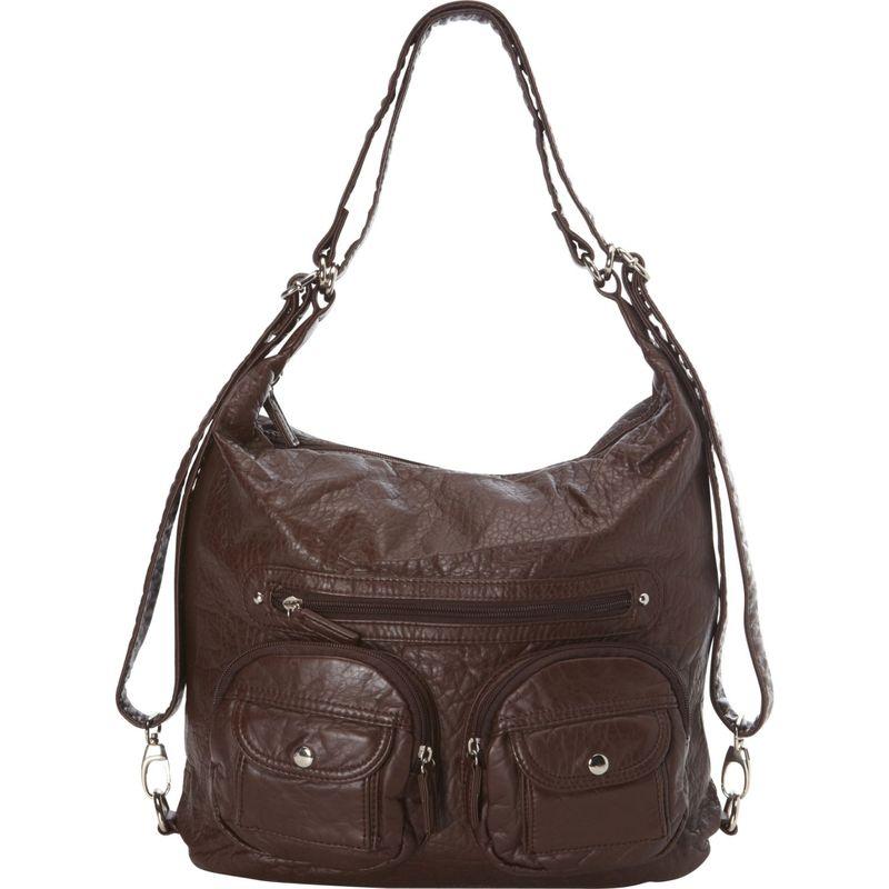アンペレクリアーション メンズ ボディバッグ・ウエストポーチ バッグ Convertible Backpack Crossbody Purse Chocolate Brown