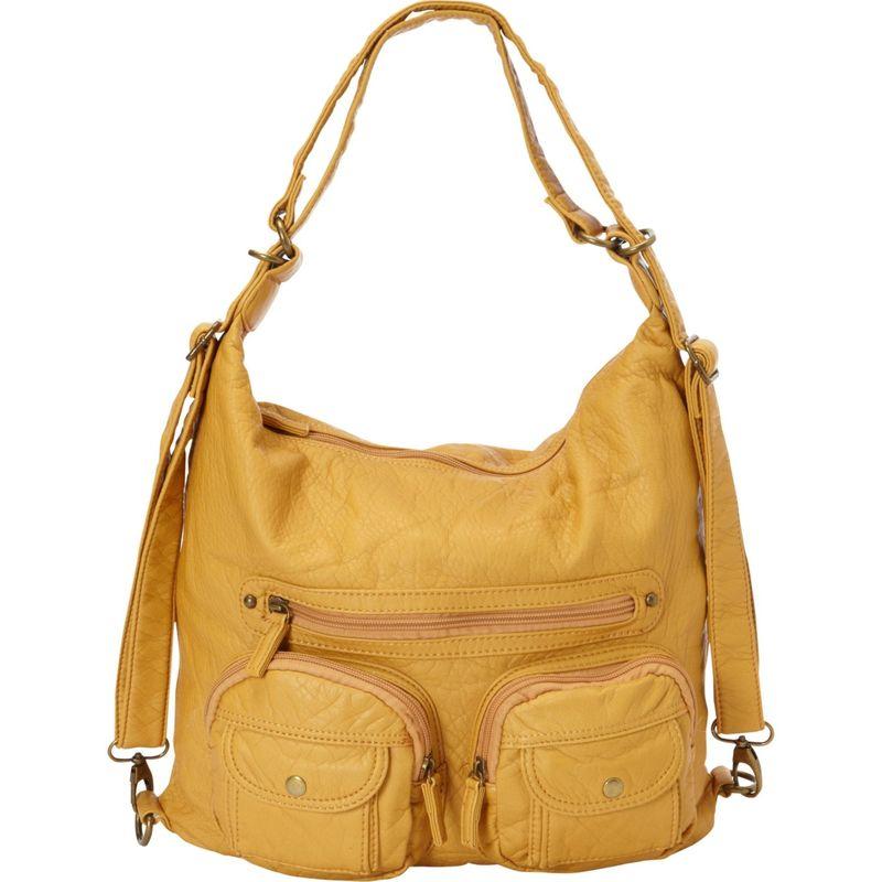 アンペレクリアーション メンズ ボディバッグ・ウエストポーチ バッグ Convertible Backpack Crossbody Purse Mustard