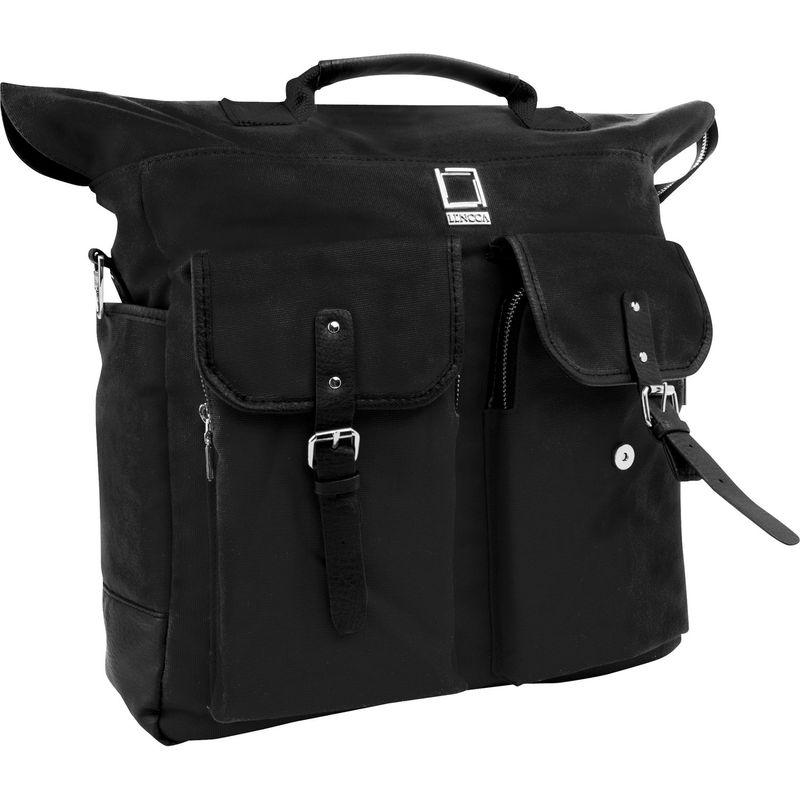レンッカ メンズ バックパック・リュックサック バッグ Mini Phlox 3-in-1 Backpack Messenger Tote Bag Black