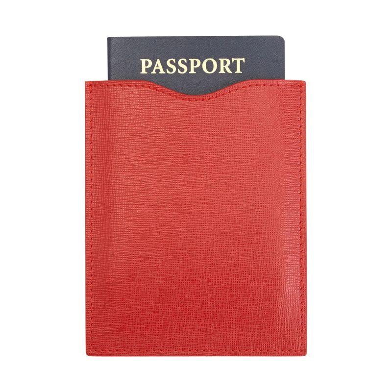 ロイスレザー メンズ 財布 アクセサリー RFID Blocking Passport Sleeve Red