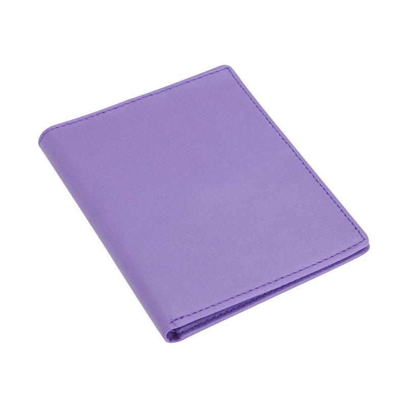 ロイスレザー メンズ 財布 アクセサリー RFID Blocking Bifold Passport Currency Travel Wallet Purple