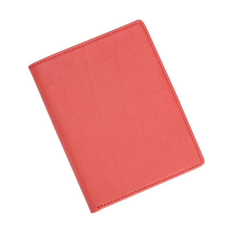 ロイスレザー メンズ 財布 アクセサリー RFID Blocking Bifold Passport Currency Travel Wallet Red