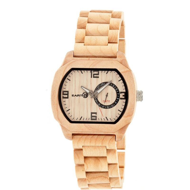 アースウッド メンズ 腕時計 アクセサリー Scaly Wood Unisex Watch Khaki/Tan