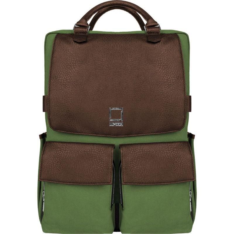 レンッカ メンズ バックパック・リュックサック バッグ Novo Laptop Traveler's Backpack Forest Green / Espresso Brown