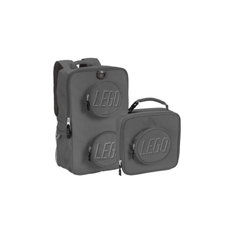 レゴ メンズ バックパック・リュックサック バッグ Brick Backpack and Lunch Combo Grey