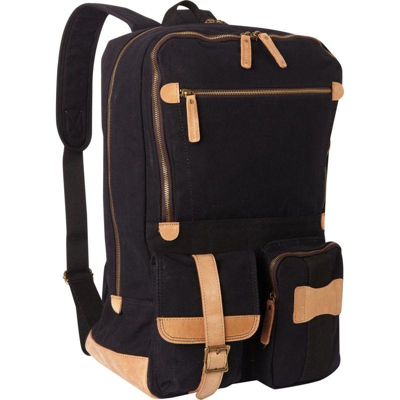 ヴァガボンドトラベラー メンズ バックパック・リュックサック バッグ Classic Super Large Canvas Backpack Black