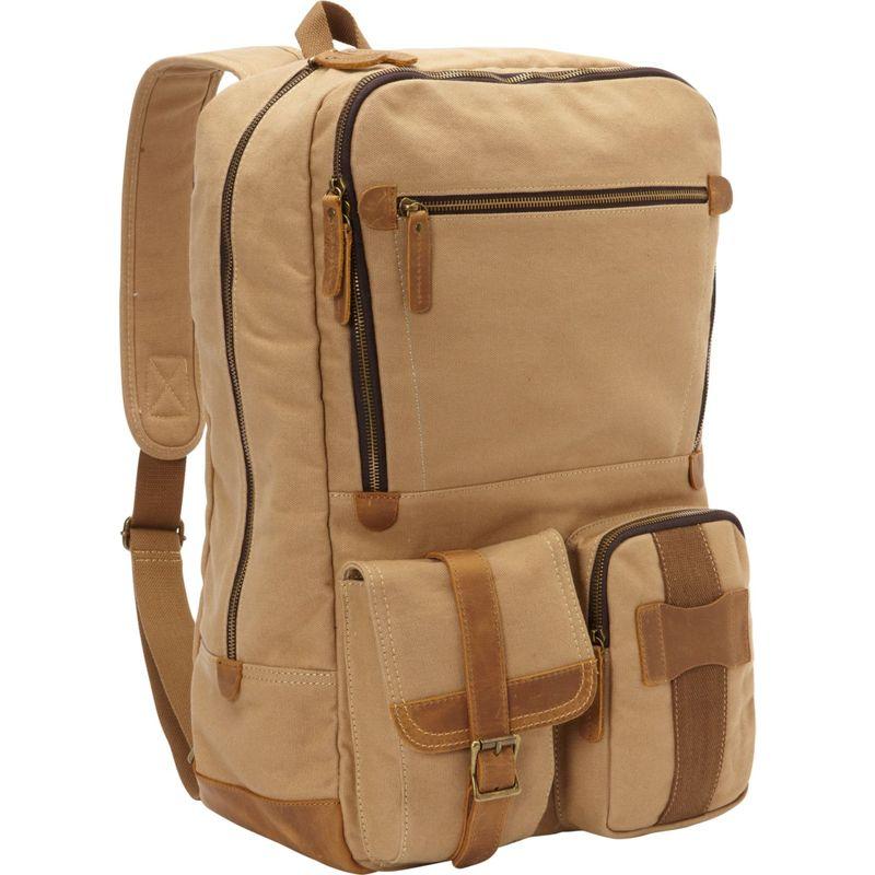 ヴァガボンドトラベラー メンズ バックパック・リュックサック バッグ Classic Super Large Canvas Backpack Khaki