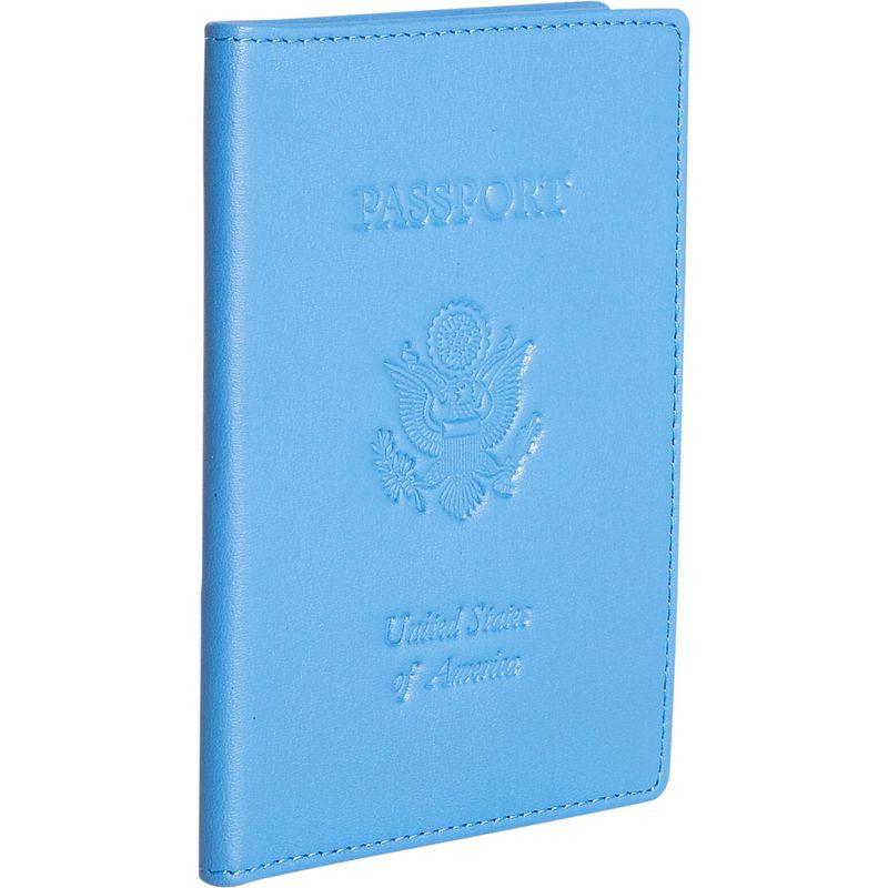 ロイスレザー メンズ 財布 アクセサリー Leather Passport Jacket Royce Blue
