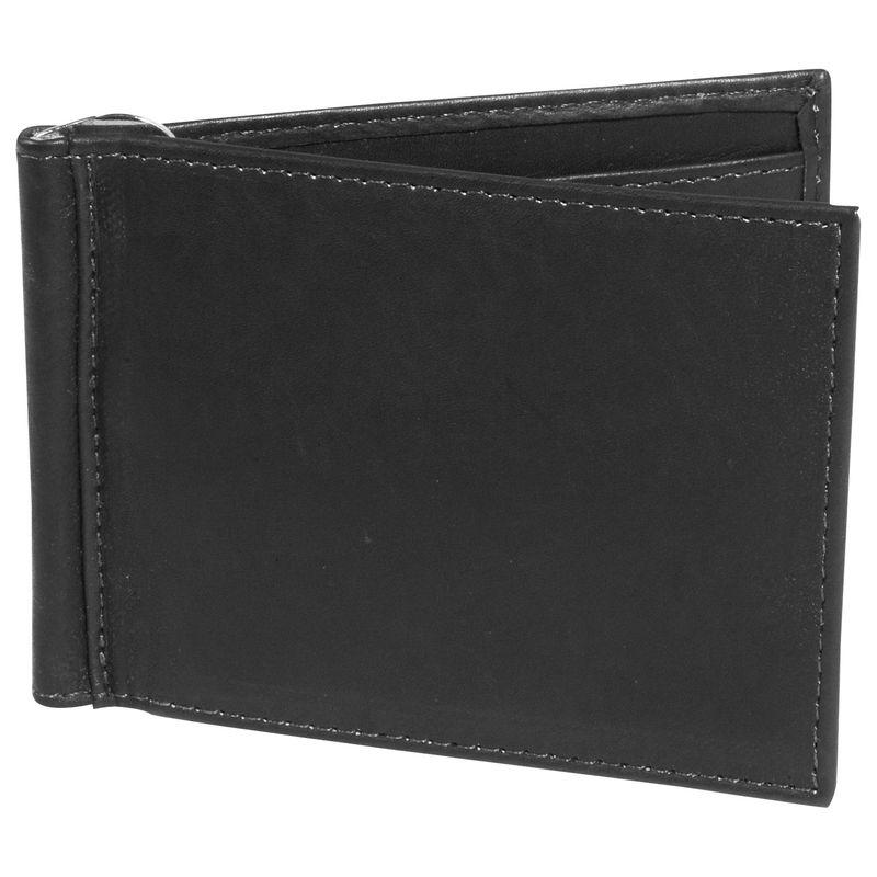 ピエール メンズ 財布 アクセサリー Bi-fold Money Clip Wallet Black