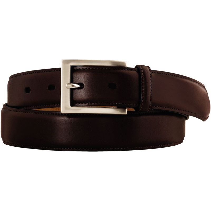 ジョンストンアンドマーフィー メンズ ベルト アクセサリー Dress Belt 34 - Brown