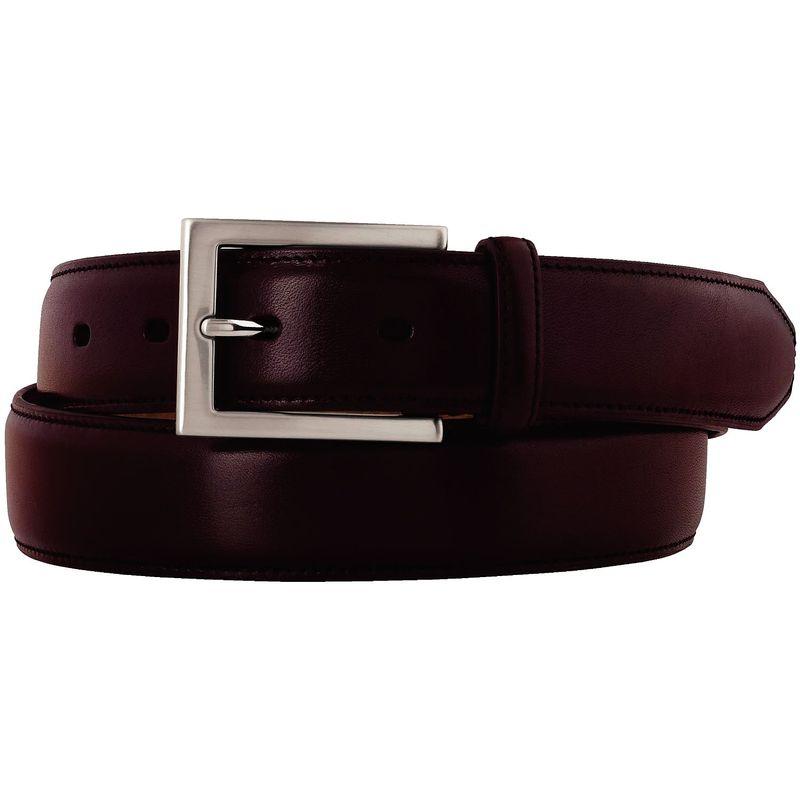 ジョンストンアンドマーフィー メンズ ベルト アクセサリー Dress Belt 40 - Burgundy