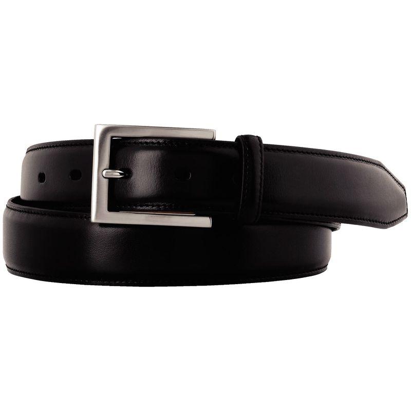 ジョンストンアンドマーフィー メンズ ベルト アクセサリー Dress Belt 42 - Black