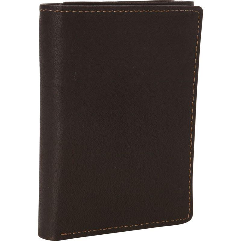 デレクアレクサンダー メンズ 財布 アクセサリー Tri-Fold Wallet Brown