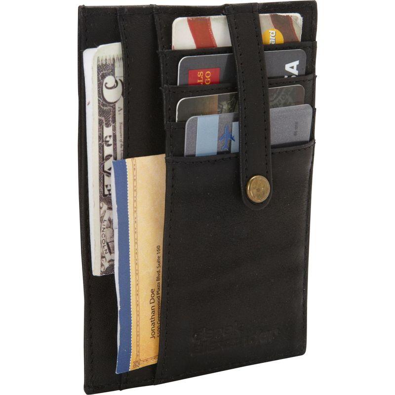 デレクアレクサンダー メンズ 財布 アクセサリー Multi Pocket Double Side Card Holder Black