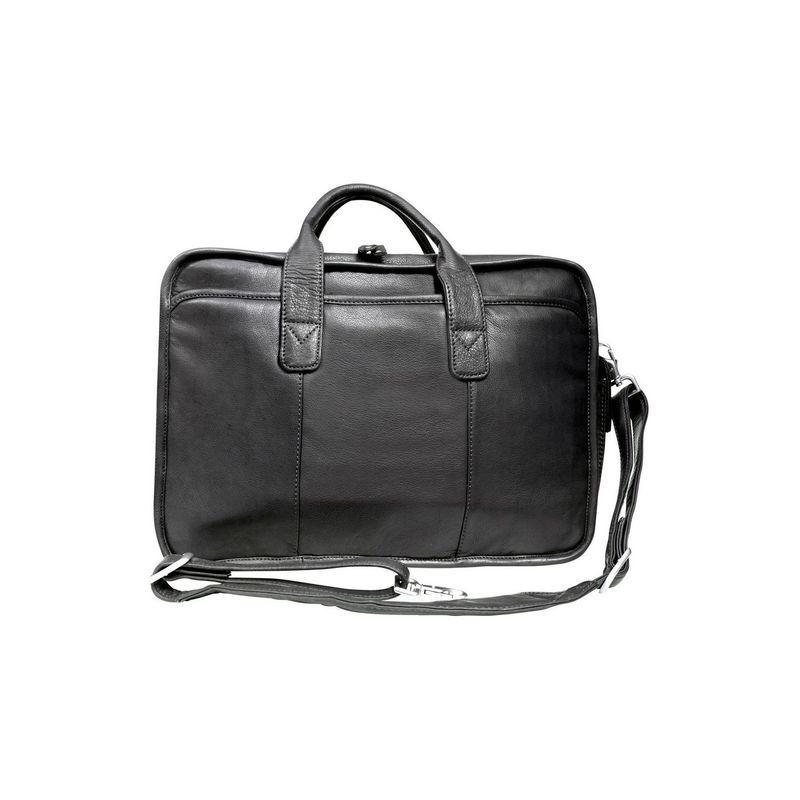キャニオンアウトバック メンズ スーツケース バッグ Leather Glacier Canyon 16-inch Slim-Line Briefcase Black