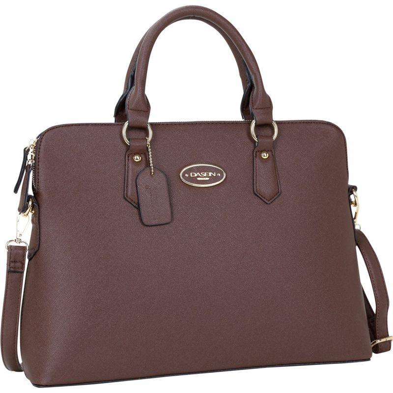 ダセイン メンズ ハンドバッグ バッグ Slim Briefcase with Removable Shoulder Strap Dark Brown