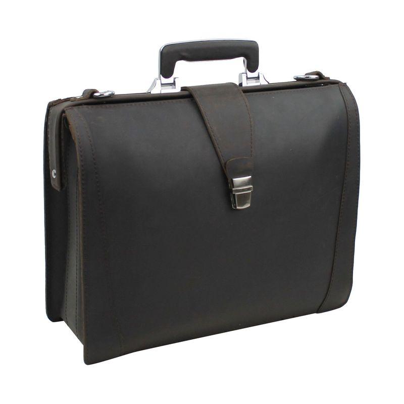 ヴァガボンドトラベラー メンズ スーツケース バッグ Classic Full Grain Leather Business Pro Case Dark Brown