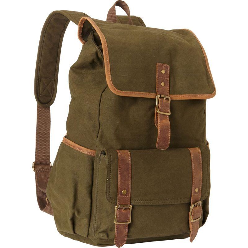 ヴァガボンドトラベラー メンズ バックパック・リュックサック バッグ Classic Large Canvas Backpack Green