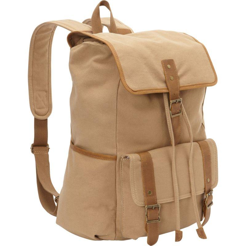 ヴァガボンドトラベラー メンズ バックパック・リュックサック バッグ Classic Large Canvas Backpack Khaki