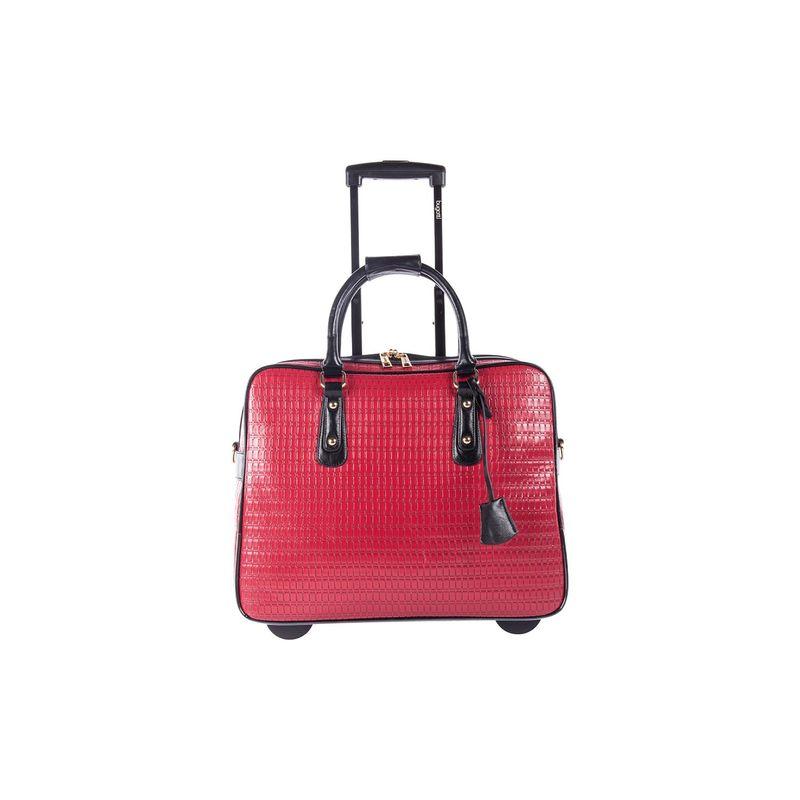 ブガッティ メンズ スーツケース バッグ Ladies Rolling Business Case Red