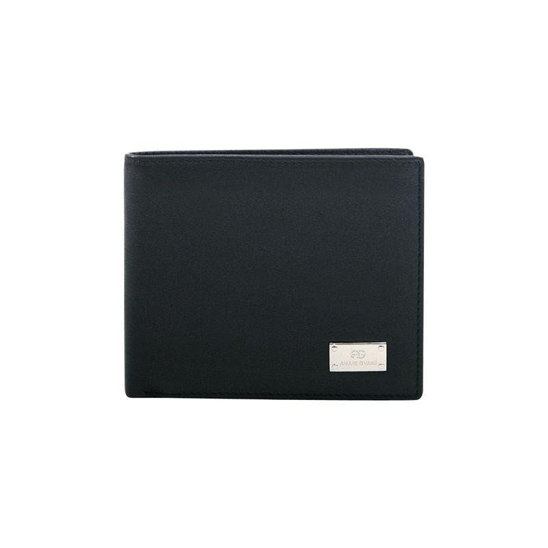 ダセイン メンズ 財布 アクセサリー Men's Genuine Smooth Italian Leather Wallet Black