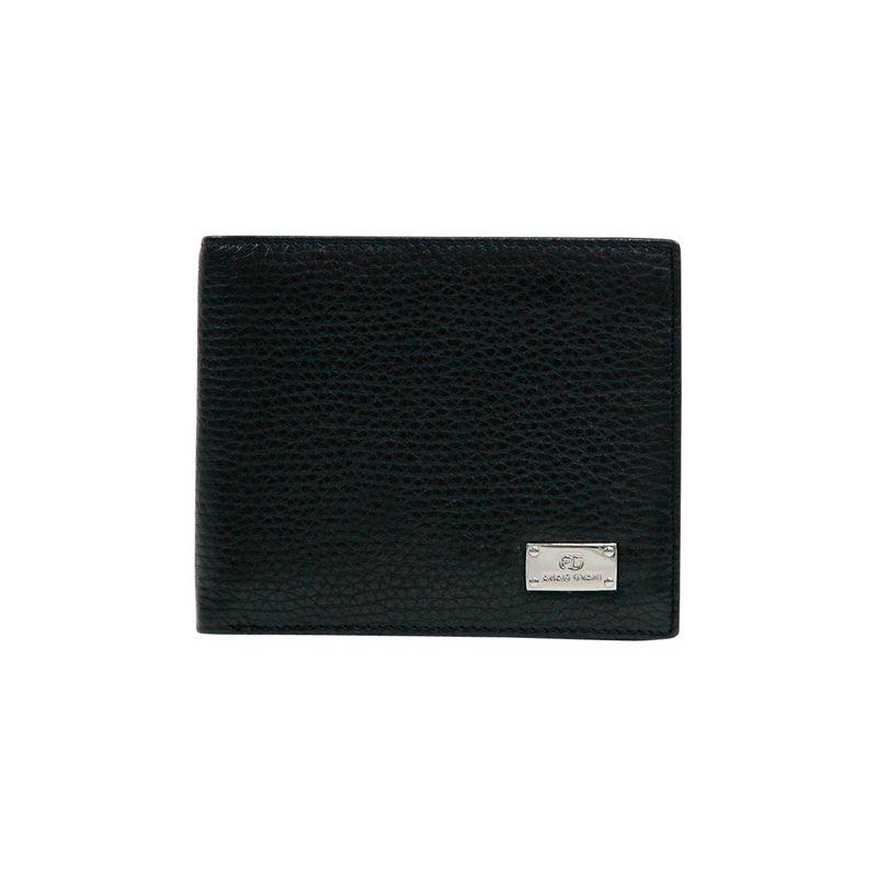 ダセイン メンズ 財布 アクセサリー Men's Genuine Top Grain Italian Leather Wallet Black