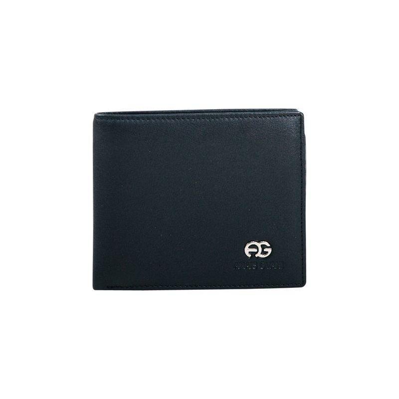 ダセイン メンズ 財布 アクセサリー Men's Genuine Smooth Leather Wallet Black