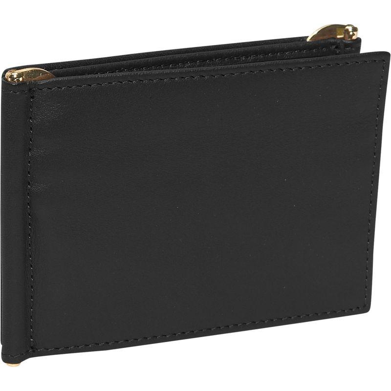 ロイスレザー メンズ 財布 アクセサリー Men's Double Money Clip Wallet Black