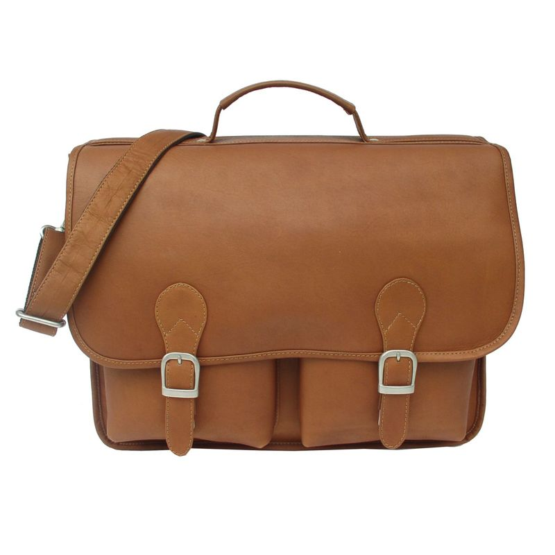 ピエール メンズ スーツケース バッグ Executive Two Pocket Portfolio Saddle