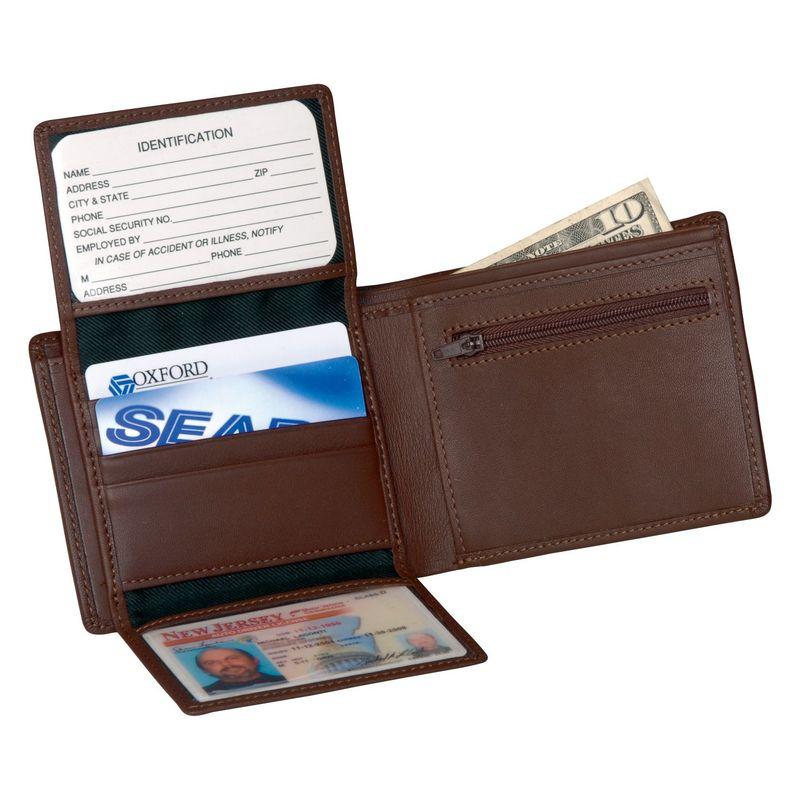 ロイスレザー メンズ 財布 アクセサリー Men's Bi-Fold Wallet w/2 ID Window & Zippered Compartment Coco