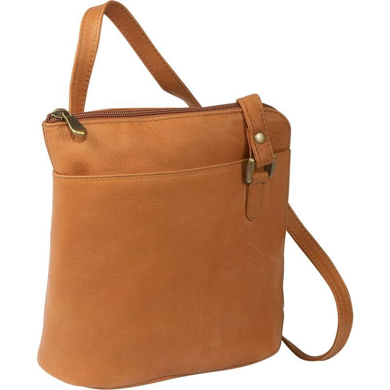 ルドネレザー メンズ ショルダーバッグ バッグ L-Zip Shoulder Bag Tan