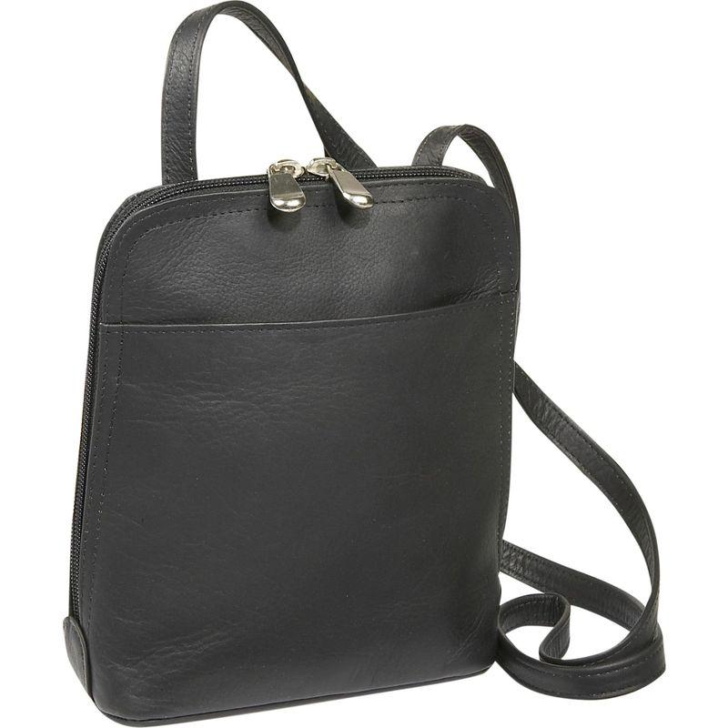ルドネレザー メンズ ボディバッグ・ウエストポーチ バッグ U-Zip Mini Black