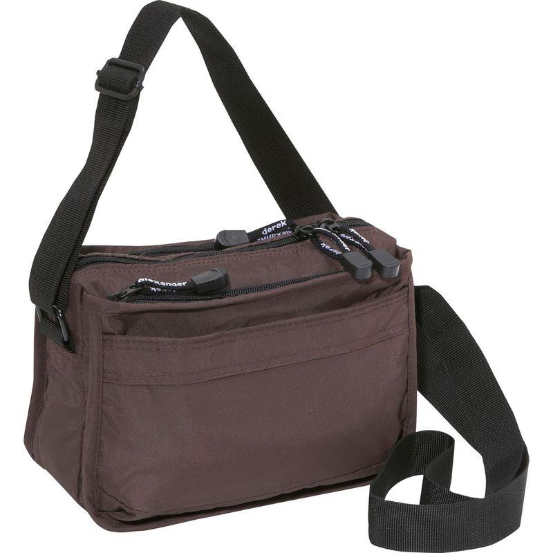 デレクアレクサンダー メンズ ボディバッグ・ウエストポーチ バッグ Top Zip Camera Bag Brown