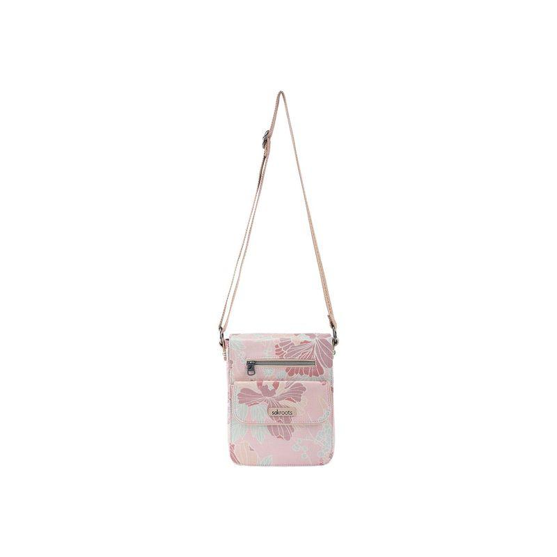サックルーツ メンズ ボディバッグ・ウエストポーチ バッグ Artist Circle Small Flap Messenger Petal Pink Flower Blossoms