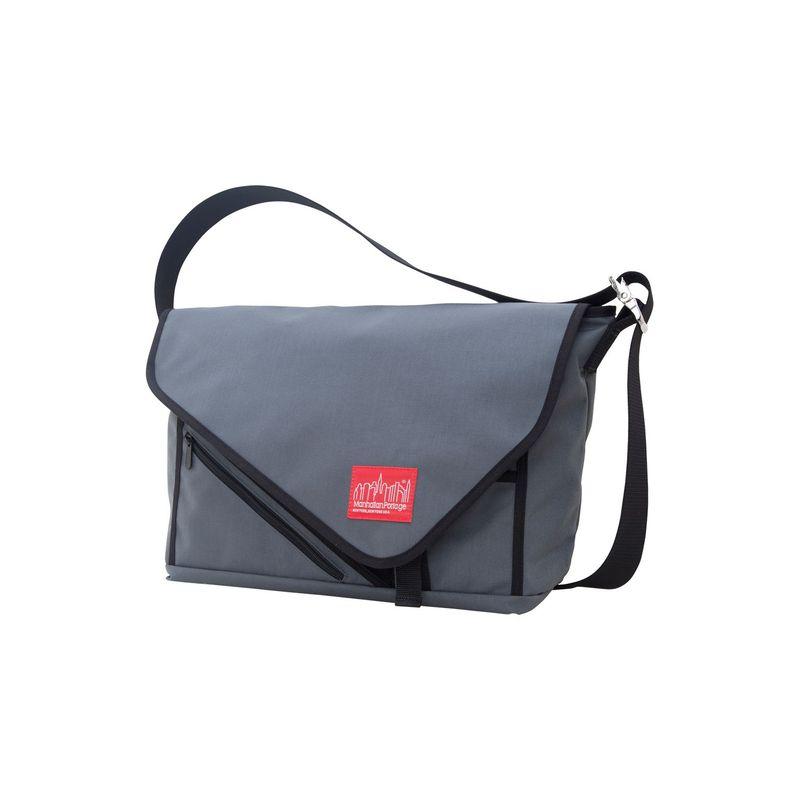 マンハッタンポーテージ メンズ スーツケース バッグ Flat Iron Laptop Messenger (LG) Grey, Grey, Black
