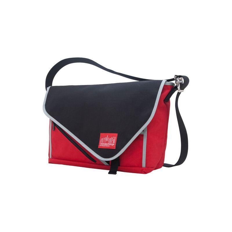 マンハッタンポーテージ メンズ スーツケース バッグ Flat Iron Laptop Messenger (LG) Red, Black, Silver