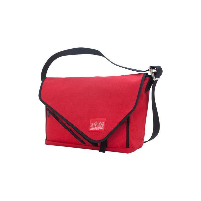 マンハッタンポーテージ メンズ スーツケース バッグ Flat Iron Laptop Messenger (LG) Red, Red, Black