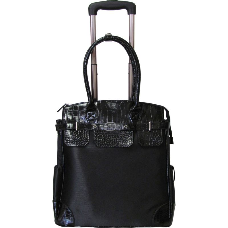アメリ レディース スーツケース バッグ Deluxe Skylar Women's Large Rolling Laptop Tote Black